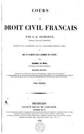 Cours de droit civil français: Volume1