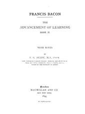 The Advancement of Learning: Volume 2