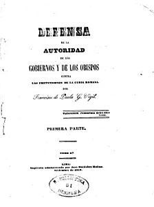 Defensa de la autoridad de los gobiernos y de los obispos contra las pretensiones de la Curia Romana PDF