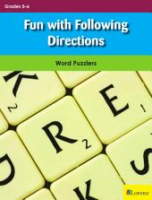 Fun with Following Directions: Word Puzzlers for Grades 5-6