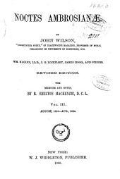 Noctes Ambrosianæ: Volume 3