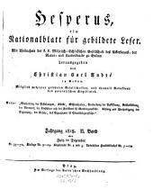 Hesperus oder Belehrung und Unterhaltung für die Bewohner des österreichischen Staats von Christian Carl Andre: Band 22