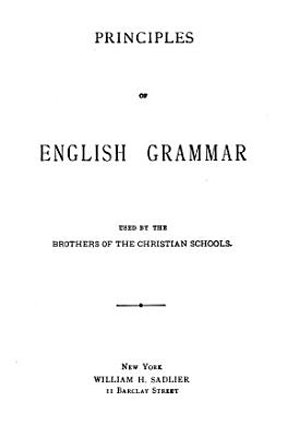 Principles of English Grammar PDF