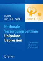 Nationale VersorgungsLeitlinie   Unipolare Depression PDF