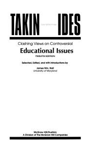 Taking Sides Educational Issues PDF