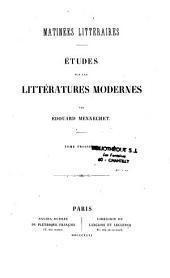 Matinées littéraires: études sur les littératures modernes