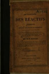 Dictionnaire des réactifs chimiques ...