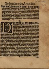 Geëxtraheerde articulen. Uyt de ordonnantie van't recht van't kleyn zegel, geëmaneert by de heeren Staten Generael ... op den thienden april 1669 ..