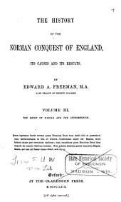 The History of the Norman Conquest of England: The reign of Harold and the interregnum