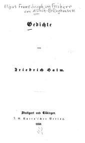 Gedichte von Friedrich Halm [pseud.]