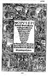 Opus epistolarum Petri Martyris Anglerij Mediolanensis... nunc primum...