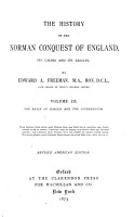 The History of the Norman Conquest of England  The reign of Harold and the interregnum  1869 PDF