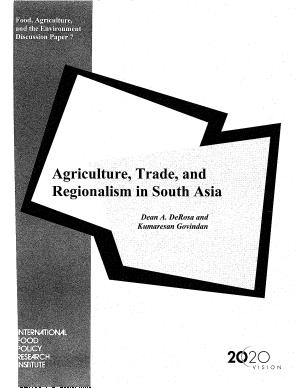 Agriculture, Trade, and Regionalism in South Asia