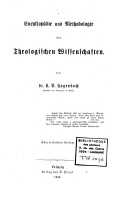 Theologische Encyclopoedie PDF