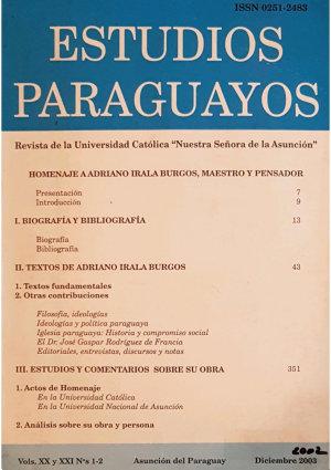Revista Estudios Paraguayos 2002 y 2003   N  1 y 2   Vols  XX y XXI PDF