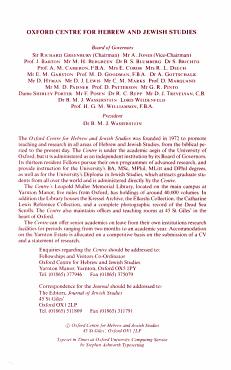 The Journal of Jewish Studies PDF