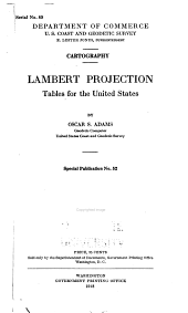 Cartography: Lambert Projection Tables for the United States