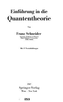 Einf  hrung in die Quantentheorie PDF