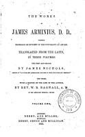 The Works of James Arminius     PDF