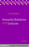 Semantic Relations and the Lexicon PDF