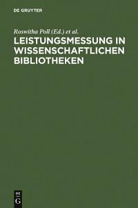Leistungsmessung in wissenschaftlichen Bibliotheken PDF