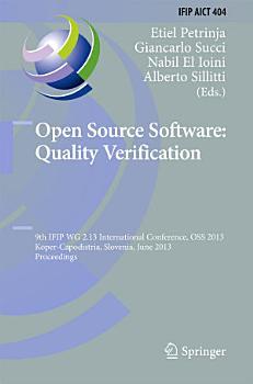 Open Source Software  Quality Verification PDF