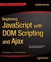 Beginning JavaScript with DOM Scripting and Ajax PDF