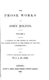 The Prose Works of John Milton: Volume 1