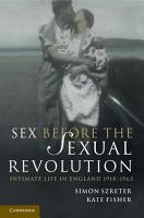 Sex Before the Sexual Revolution PDF