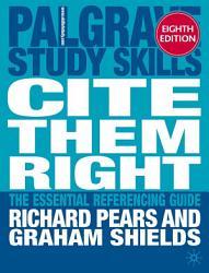 Cite Them Right Book PDF