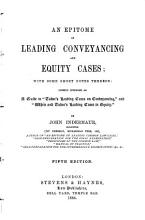 An Epitome of Leading Conveyancing and Equity Cases PDF