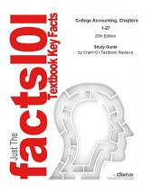 College Accounting, Chapters 1-27: Business, Finance, Edition 20