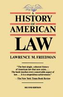 A History of American Law  Revised Edition PDF
