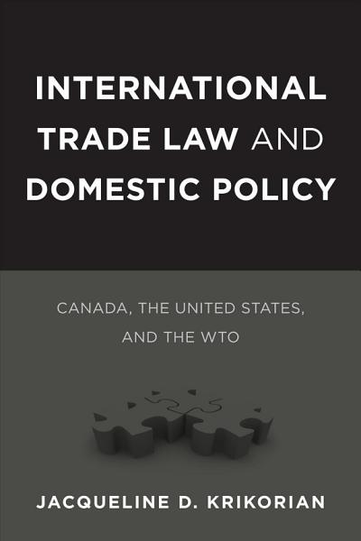 International Trade Law and Domestic Policy PDF