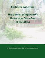Aushadh Rahasya  The Secret of Ayurvedic Herbs and Disorders of the Mind PDF