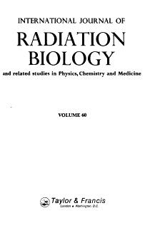 International Journal of Radiation Biology PDF