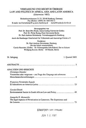 Verfassung und Recht in   bersee PDF