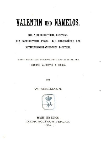 Valentin und Namelos PDF