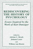 Rediscovering the History of Psychology PDF