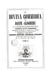 La divina commedia di Dante Alighieri: Tomo 1, Volume 1