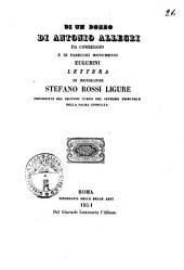 Di un bozzo di Antonio Allegri da Correggio e di parecchi monumenti eugubini: lettera