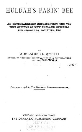 Huldah s Parin  Bee     PDF