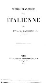 Poésies Françaises d'une Italienne