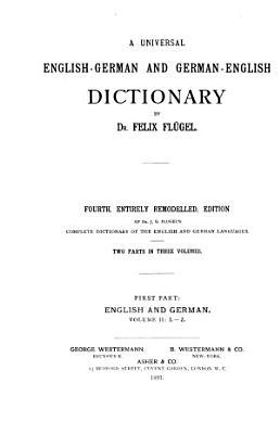 Allgemeines englisch deutsches und deutsch englisches w  rterbuch  Englisch deutsch  bd I  A K  bd II  L Z PDF