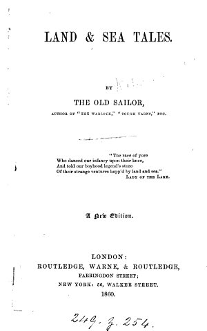 Land   sea tales  by the Old Sailor