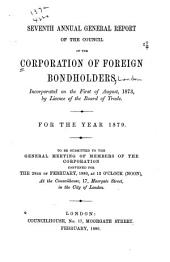 Report of the Council of the Corporation of Foreign Bondholders: Volume 7