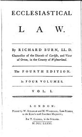 Ecclesiastical Law: In Four Volumes, Volume 1