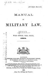 Manual of Military Law