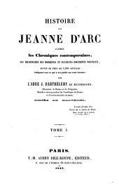Histoire de Jeanne d'Arc, d'après les chroniques contemporaines