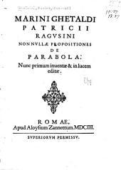 Marini Ghetaldi ... Promotvs Archimedis sev De varijs corporum generibus grauitate & magnitudine comparatis